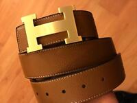 Hermes reversible belt tan and black with box