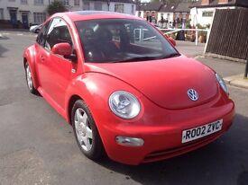 VW beetle 2.0 Petrol Automatic , 2002, long M.O.T