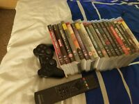 PS3 Console, 19 Games, 1 Controller and 1 Remote