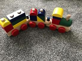 Toy wooden train Melissa and Doug