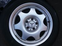 Mercedes Alloys with tires x4