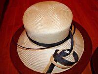 NEW Modern cream white black formal MONSOON hat Accessorize Designer headwear wedding mother bride