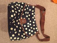 Babymel Baby changing bag, Navy & white, £4