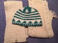 Woollen hat and scarves bundle