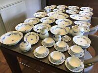 Copenhagen Danish Porcelain Dinner Set - Bing & Grondahl 1970-1983 (39 Piece 'Empire' Set)