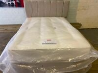 NEW DOUBLE DIVAN BED WITH DRAWERS + HEADBOARD + MATTRESS SLUMBER LAND CAN DELIVER