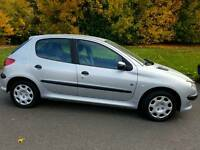 Peugeot 206 5DOOR 2004 1LADY ONWER 13 SERVICES FROM PEUGOT