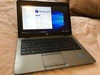 HP EliteBook 820 12.5 4gb Core i5 4th gen 128gbSSD WiFi USB 3.0 Win10 Pro Bluetooth HD 4400 Graphics