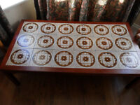 Large tiled top coffee table Retro 1970's Vintage - Pokesdown BH5 2AB