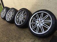 18 genuine Zcw Bmw wheels with almost new tyrs 5x120