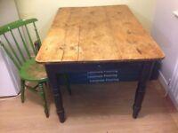Vintage Old Pine Farmhouse Table