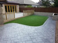 Garden design decking patio flagging service free estimate artificial lawn same day 07425069133
