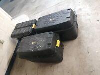 3 x large heavy duty storage trunks