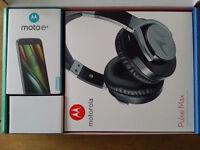 UNLOCKED, Motorola E3 + Pulse Headset - BLACK