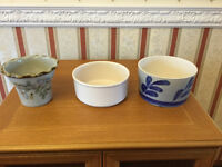 3 Ceramic Plant Pot Holders - only 50p each!