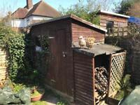 Garden Shed - including wood store - free