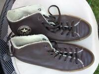 Men's leather brown converse boots