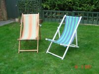 Two Deckchairs. Will sell separately . Can Deliver.