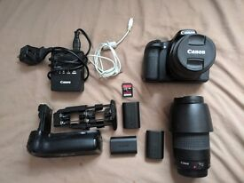 MINT - Canon 70D with 18-55mm and 75-300mm plus extras!