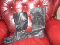 hush puppy flat boots
