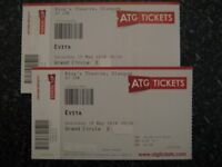 2 Evita Tickets in Grand Circle for Saturday 19th May at Kings Theatre, Glasgow.