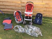 Travel system - graco with two car seat bases