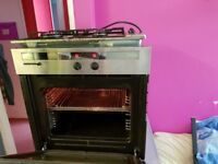 Fitted intergrated electric BOSCH oven and 4 burner gas hob. Was £800. Delivery. Clean Delivery