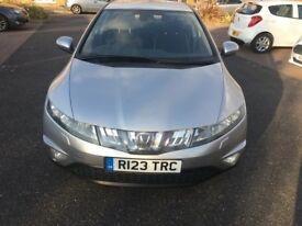 HONDA CIVI 2006 FULL SERVICE HISTORY+SATNAV+XENONS-ALLOYS 2 KEYS AND PARKING SENSOR