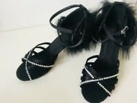 Brand new hand-stoned latin dance shoes size 6