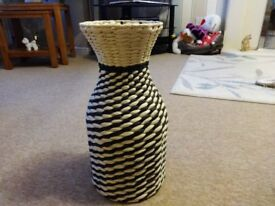 Large unusual woven ornament/vase - never been used. Great for a dried flower display!