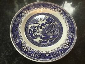 Vintage Old Willow Dinner Plates