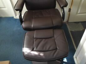 recliner swivel leather chair 3 months old