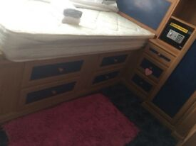 Single mattress comes with all you see in pics brand new call for more details