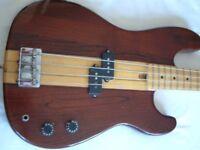 Unbranded Thru- neck electric bass guitar - Matsumoku,Japan - '70s/'80s - Satellite/Memphis?