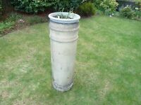 GENUINE EDWARDIAN LARGE CHIMNEY POT-USED AS GARDEN PLANT POT