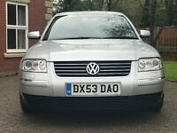 VW PASSAT1.9 TDI SPORT LOW MILES 61K WARRANTED WITH FULL SERVICE HISTORY 1 FORMER KEEPER BARGIN
