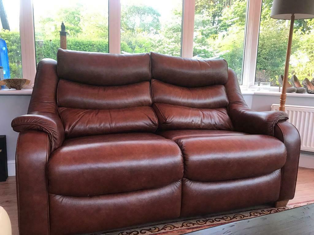 Fine Parker Knoll Leather Sofa 2 Chairs In Linlithgow West Lothian Gumtree Machost Co Dining Chair Design Ideas Machostcouk