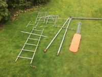 Climbing frame and swing set, now disassembled