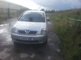 for sale Vauxhall MERIVA 1600 2005 swop for a ford ka car only and is not for sale