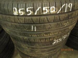 255/50R19 SET OF 4 ONLY USED SCORPION  A/S TIRES