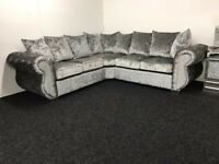 Chesterfield 2 Corner 2 Sofa Crushed Velvet Sofa - Fast & Free 2 Man delivery within 50 miles -