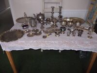 Job lot of silver plate