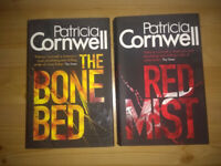 2 Patricia Cornwel booksl *THE BONE BED* *THE RED MIST* hardback PERFECT condition