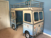 john Lewis Cabin Bed - bus design, all metal frame. Very good condition. Cost new £450