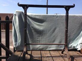 Antique saddle rack
