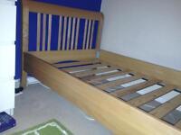 Solid Beech single bed John Lewis