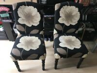 Pair of one off, dining chairs