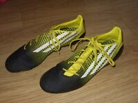 Mens / Gents Adidas mi Football Boots - Black / Yellow - UK Size 11.5 / EU 46 - VGC Only Worn Once