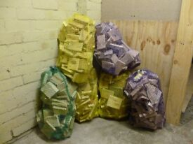 Bags of off cuts wood. £2.25 each or 6 for £10 good for fires ,chimeneas/firewood/kindling/logs