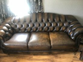 2 x 3 Seater Chesterfield Suites